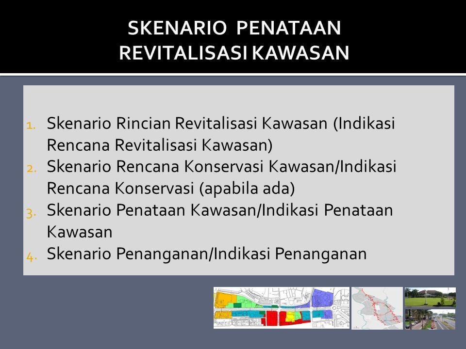 1. Skenario Rincian Revitalisasi Kawasan (Indikasi Rencana Revitalisasi Kawasan) 2. Skenario Rencana Konservasi Kawasan/Indikasi Rencana Konservasi (a