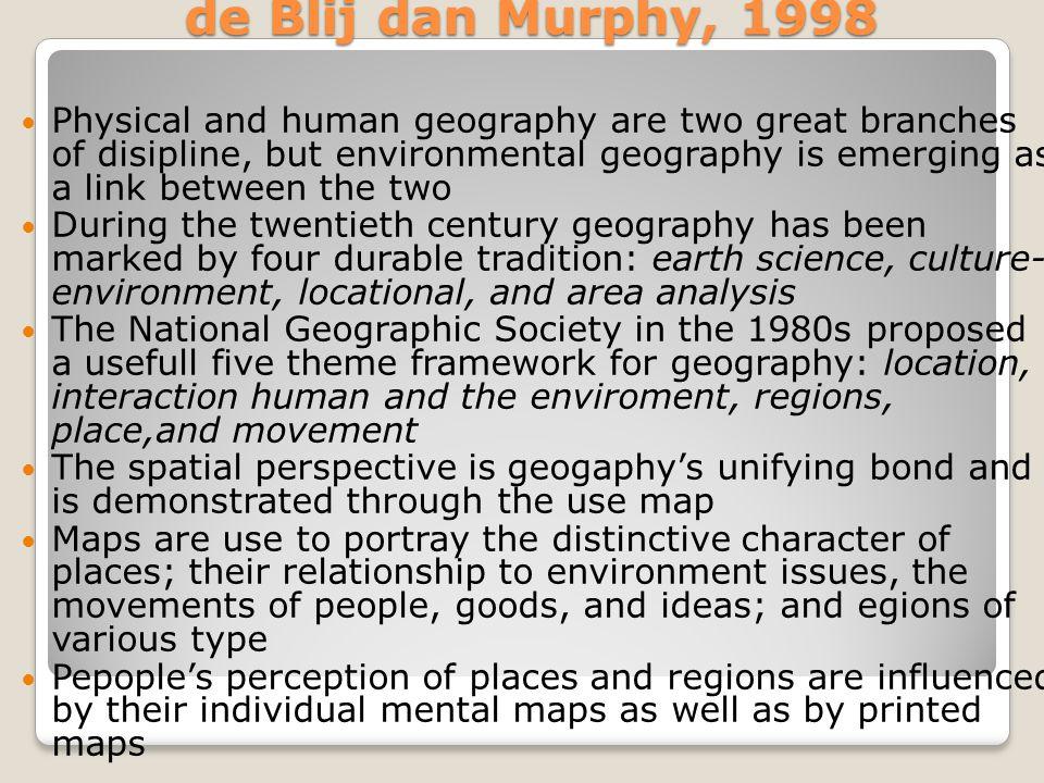 Geografi sebagai ilmu dipaparkan Immanuel Kant (1724-1804) Geografi merupakan ilmu yang mempelajari fakta- fakta dalam ruang.Terdapat elemen yang mencirikan tentang hal tersebut yakni 1.