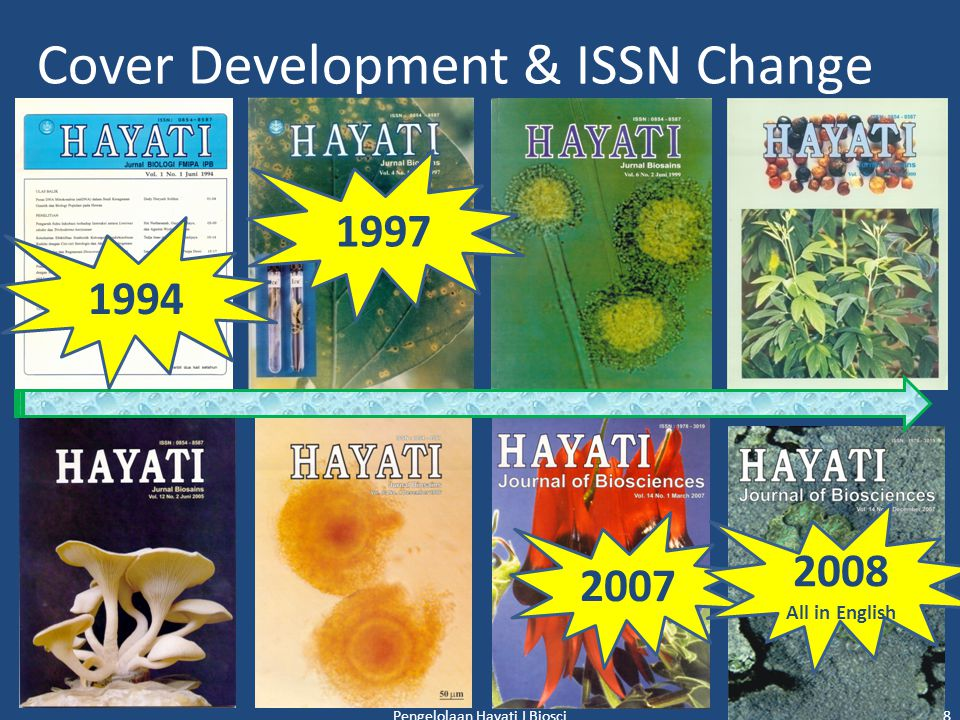 HAYATI Journal Management Journal Content 1.Chief Editor : Dr.
