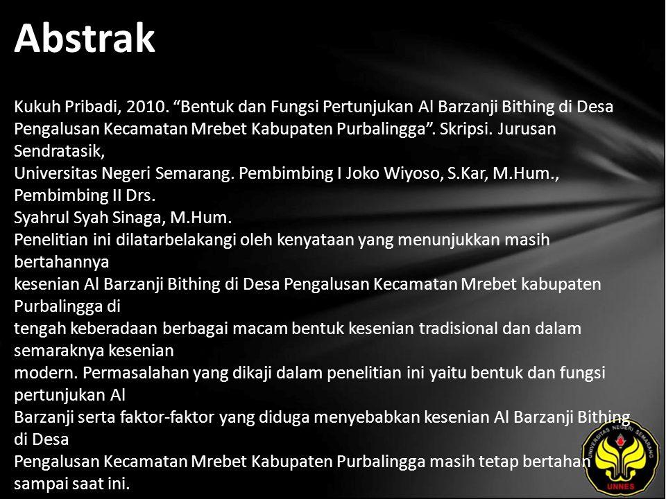 Abstrak Kukuh Pribadi, 2010.