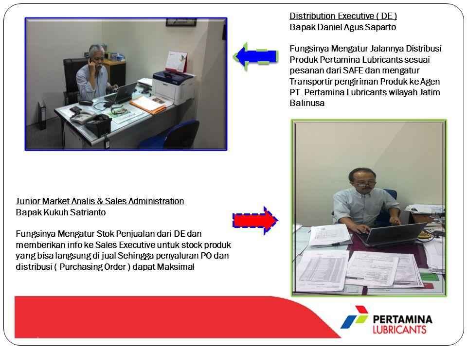 Junior Market Analis & Sales Administration Bapak Kukuh Satrianto Fungsinya Mengatur Stok Penjualan dari DE dan memberikan info ke Sales Executive unt