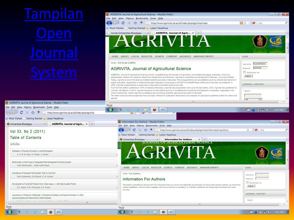 Tampilan Open Journal System