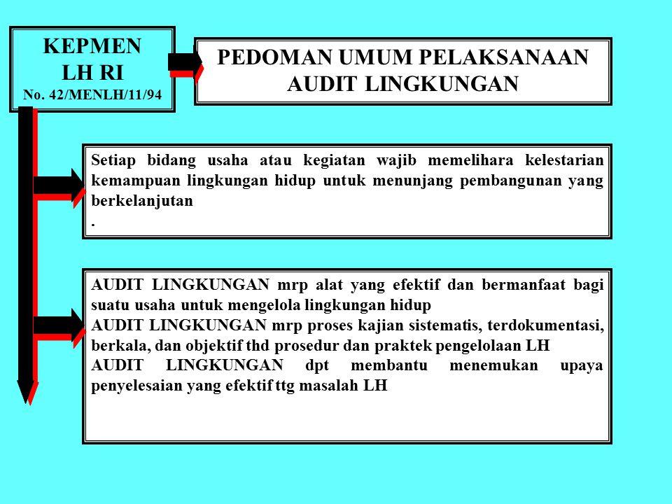 Ass. Wr. Wb. AUDIT LINGKUNGAN Bahan kajian MK Perencanaan Lingkungan dan Pengembangan Wilayah PSDAL PDIP PPS FPUB Soemarno, Oktober 2011 Ass. Wr. Wb.