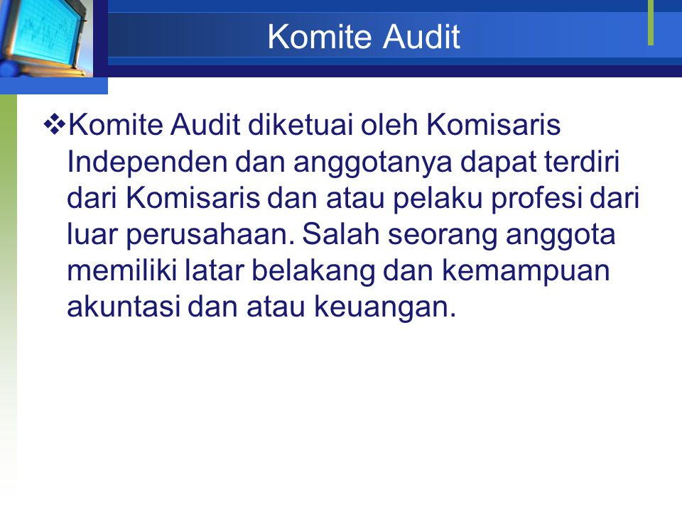 Audit Committee Responsibility  Corporate governance  Internal controls  Financial reporting  Audit activities  Code of ethics conduct  Whistleblower program  Enterprise risk management  Financial statement fraud