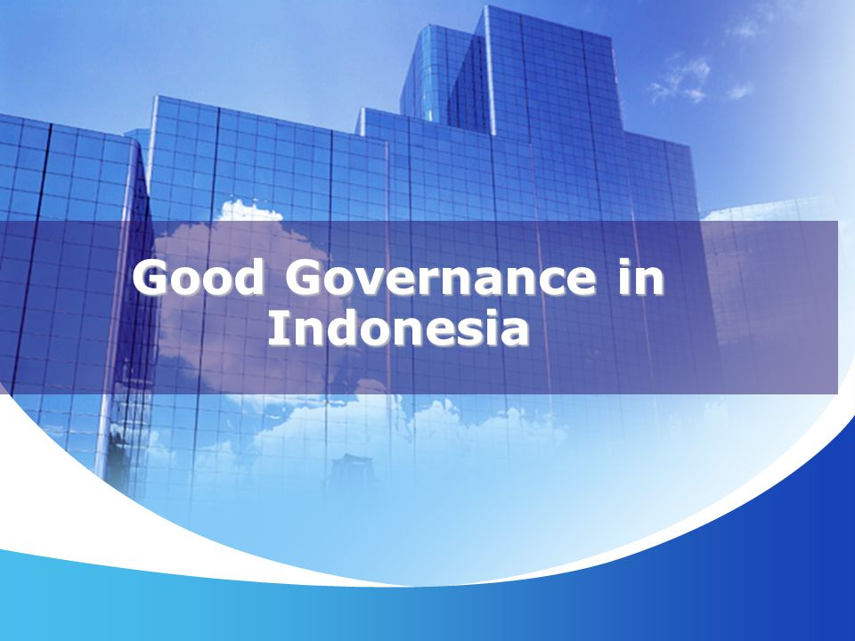 Good Governance in Indonesia