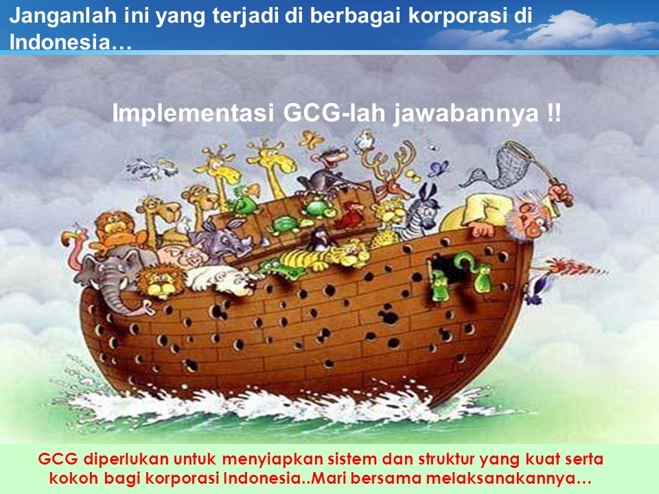 Peraturan dan Kelembagaan GCG di Indonesia