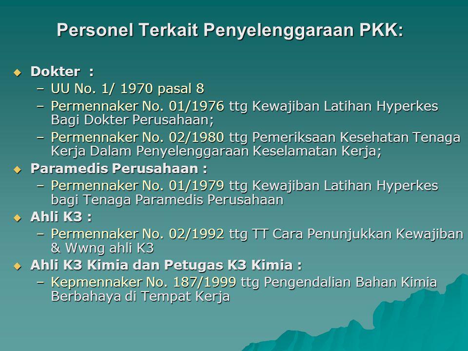 Pemanfaatan PKK bagi Program JPK Jamsostek Kepmenaker No 147 Th 1989  Tata cara pemanfaatan PKK –Melalui kerjasama antara Perusahaan dg BP program JP