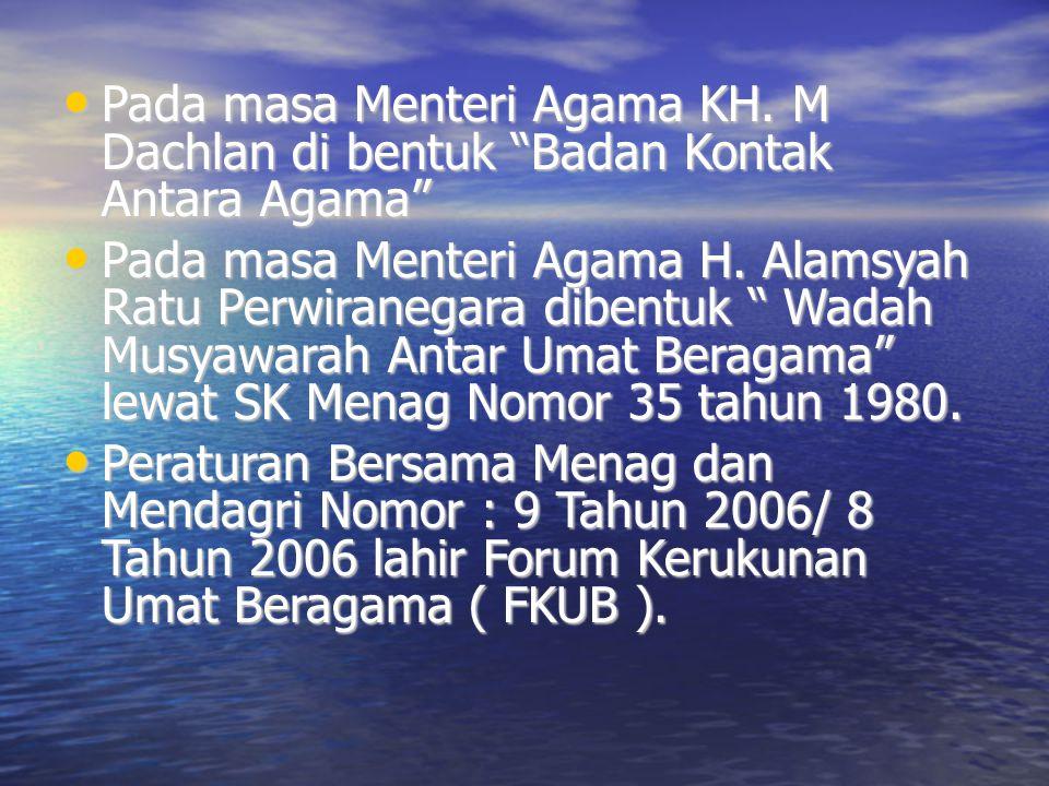Daftar Dari Kementerian Agama Terhadap Kegiatan Yang Rawan Konflik 1.