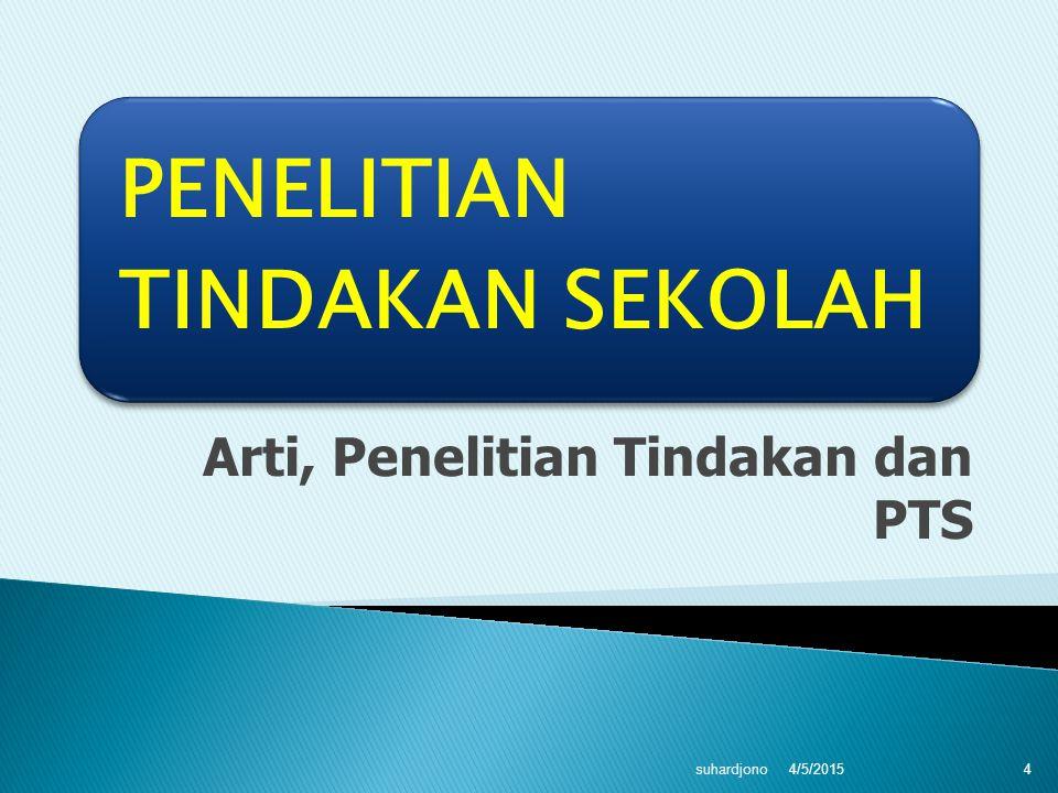 Arti, Penelitian Tindakan dan PTS 4/5/2015 suhardjono 4
