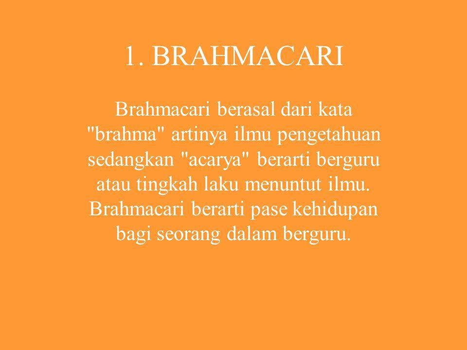 BAGIAN - BAGIANNYA 1.Brahmacari. 2.Grhastha. 3.Wanaprastha 4.Bhiksuka