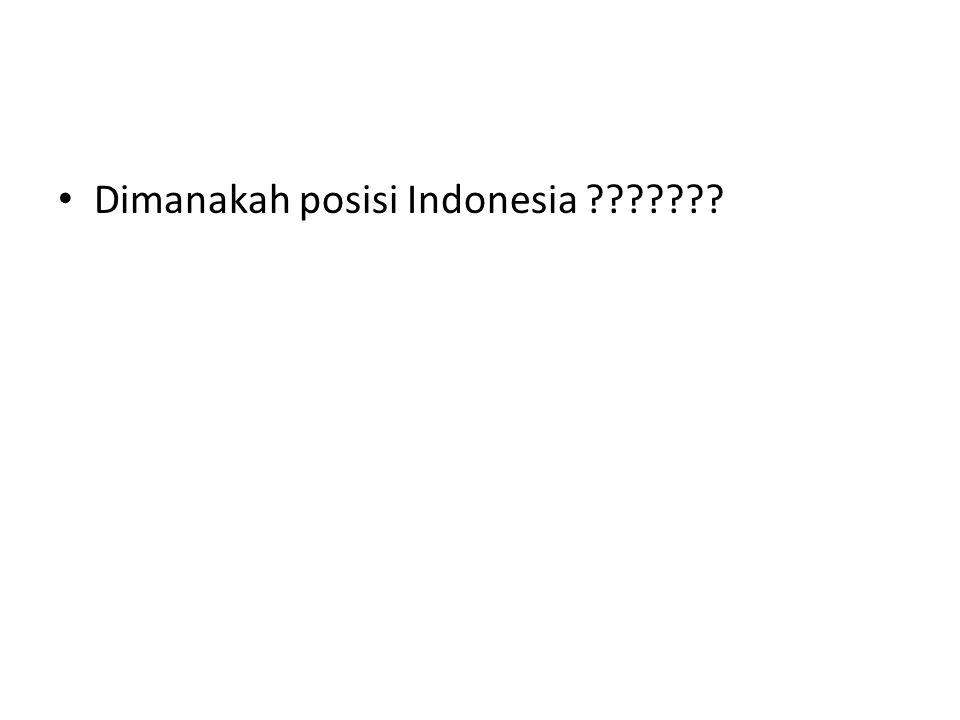 Dimanakah posisi Indonesia ???????