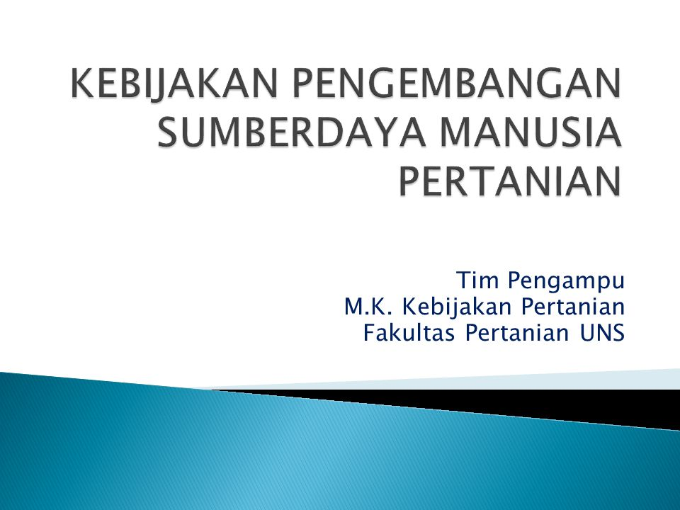 Tim Pengampu M.K. Kebijakan Pertanian Fakultas Pertanian UNS