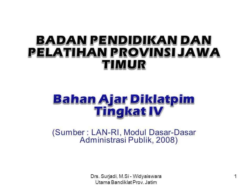 Drs. Surjadi, M.Si - Widyaiswara Utama Bandiklat Prov. Jatim 1