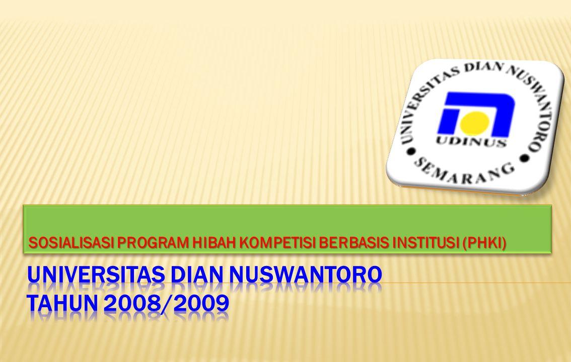  PHKI adalah skema program bantuan/hibah yang ditawarkan Dewan Pendidikan Tinggi (DPT – Dikti) dengan tujuan : 1.
