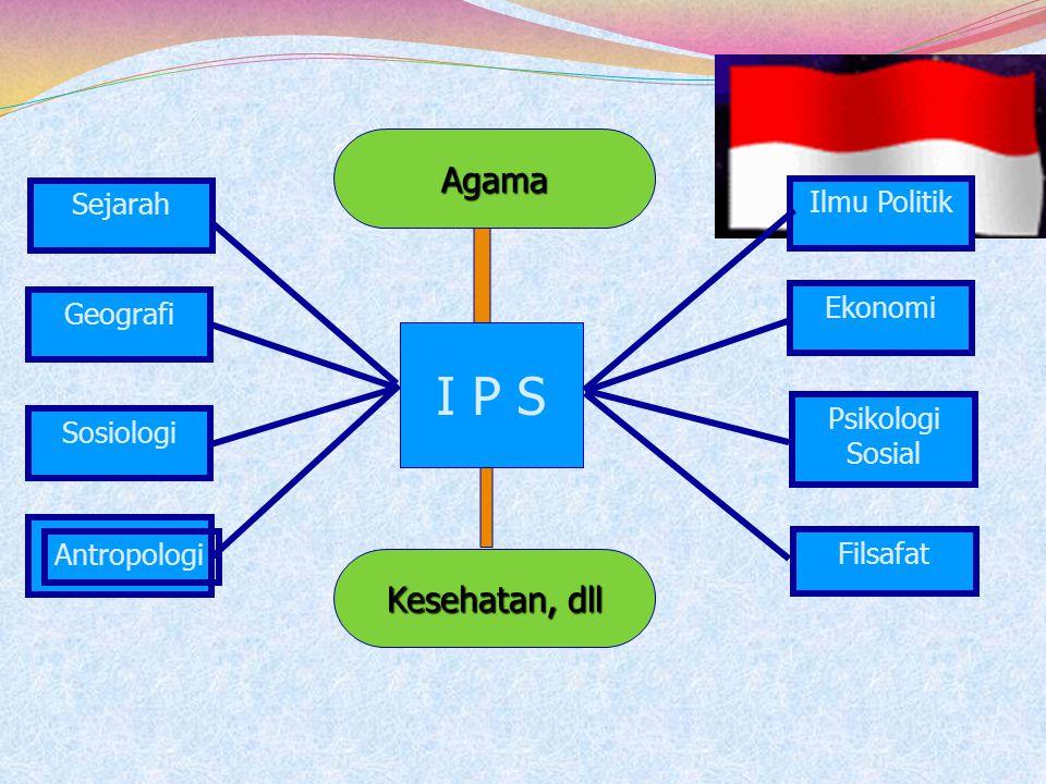 M. Numan Somantri (2001) : Program pendidikan IPS merupakan perpaduan cabang-cabang Ilmu-ilmu sosial dan humaniora termasuk di dalamnya agama, filsafa