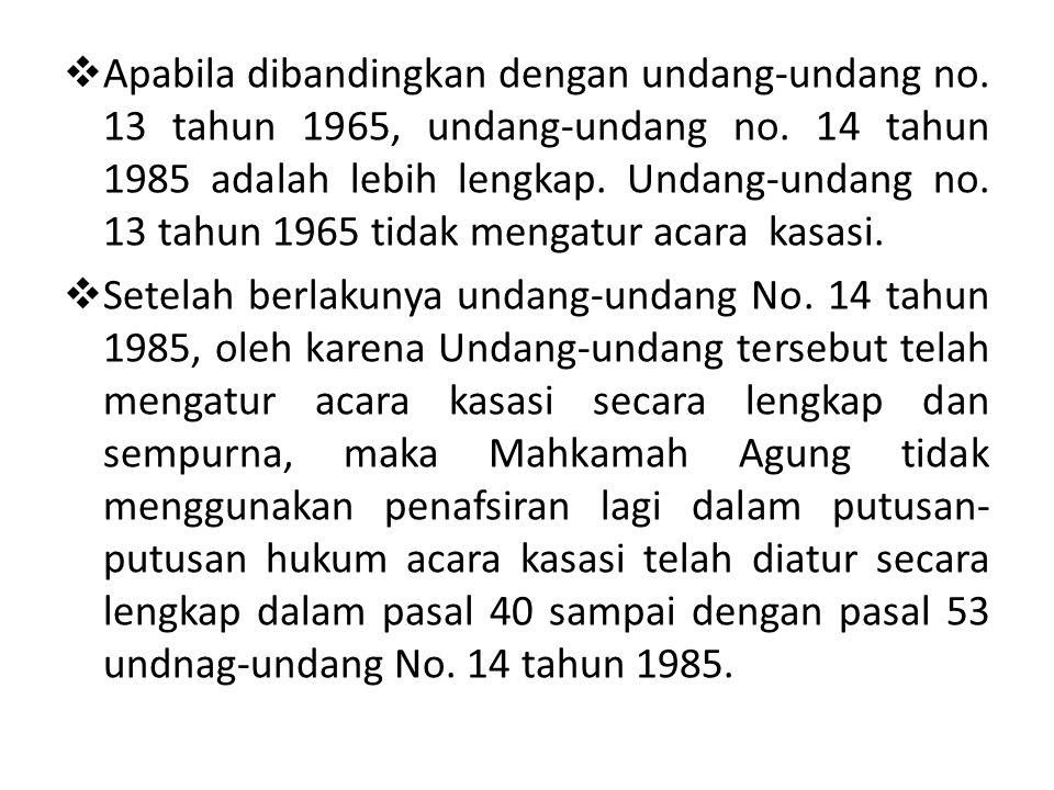  Bab III undang-undang Pasal no.14 tahun 1985, megatur tentang kekuasaan Mahkamah Agung.