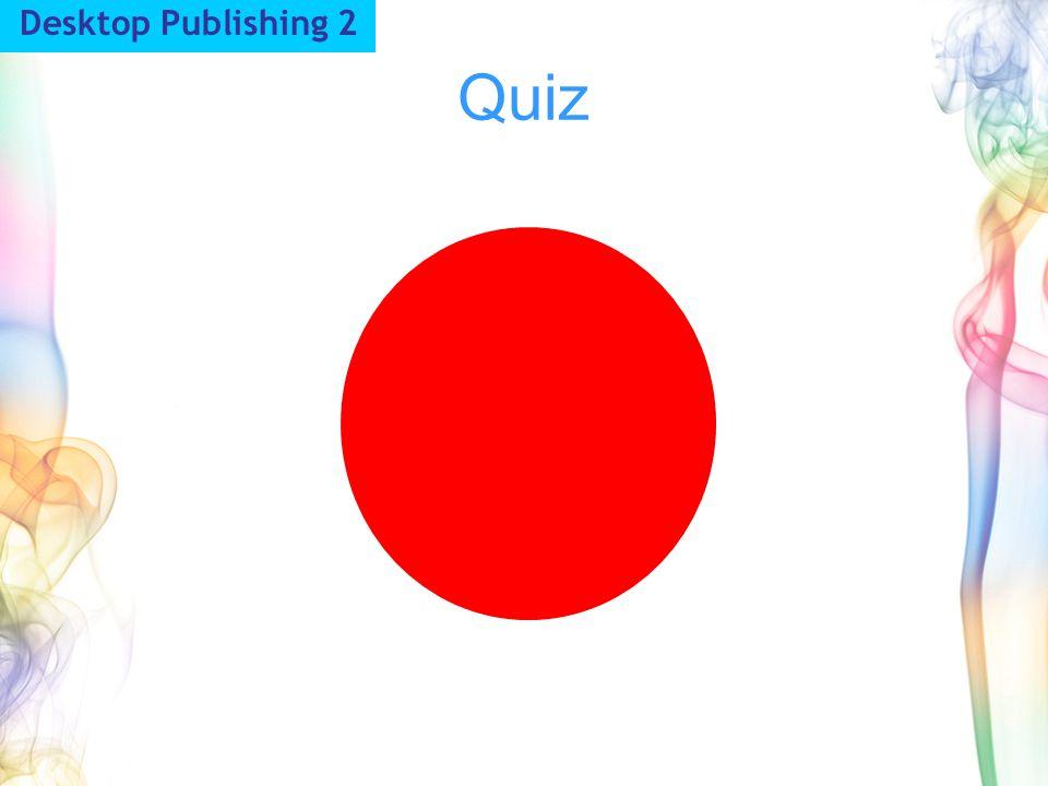 Quiz Desktop Publishing 2