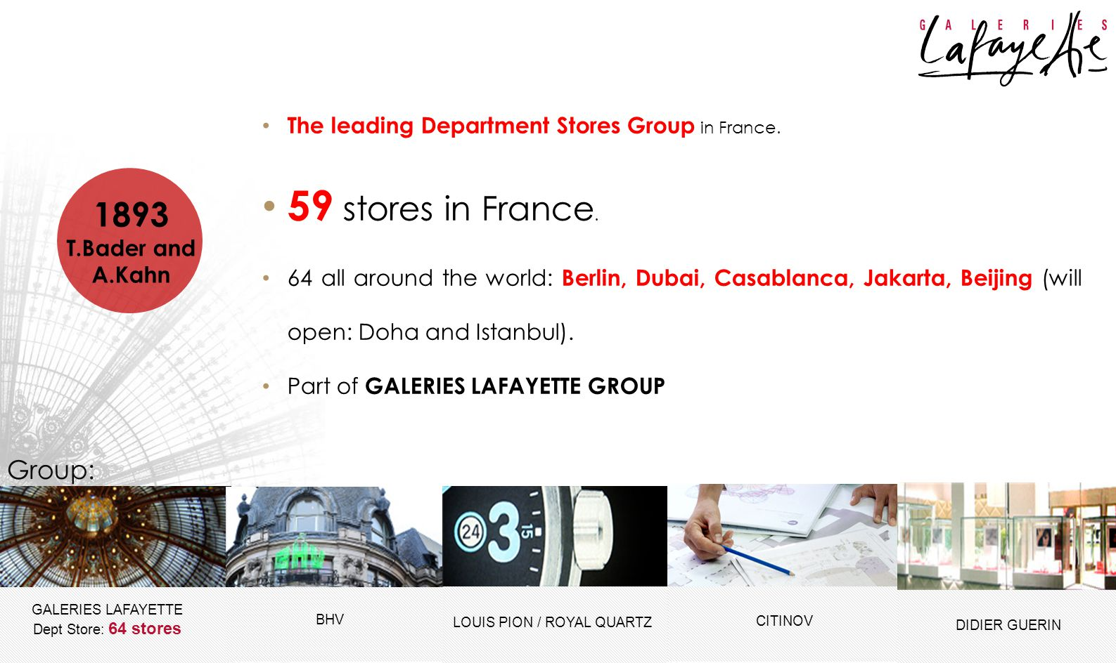 GALERIES LAFAYETTE Dept Store: 64 stores DIDIER GUERIN CITINOV TRAINING SECTION – HR DEPT. GALERIES LAFAYETTE INDONESIA Jl. Jendral Sudirman Kav 52 &