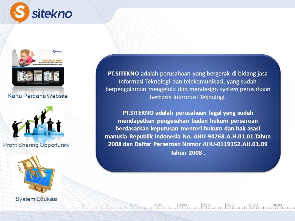 PT.SITEKNO adalah perusahaan yang bergerak di bidang jasa Informasi Teknologi dan telekomunikasi, yang sudah berpengalaman mengelola dan mendesign system perusahaan berbasis Informasi Teknologi.