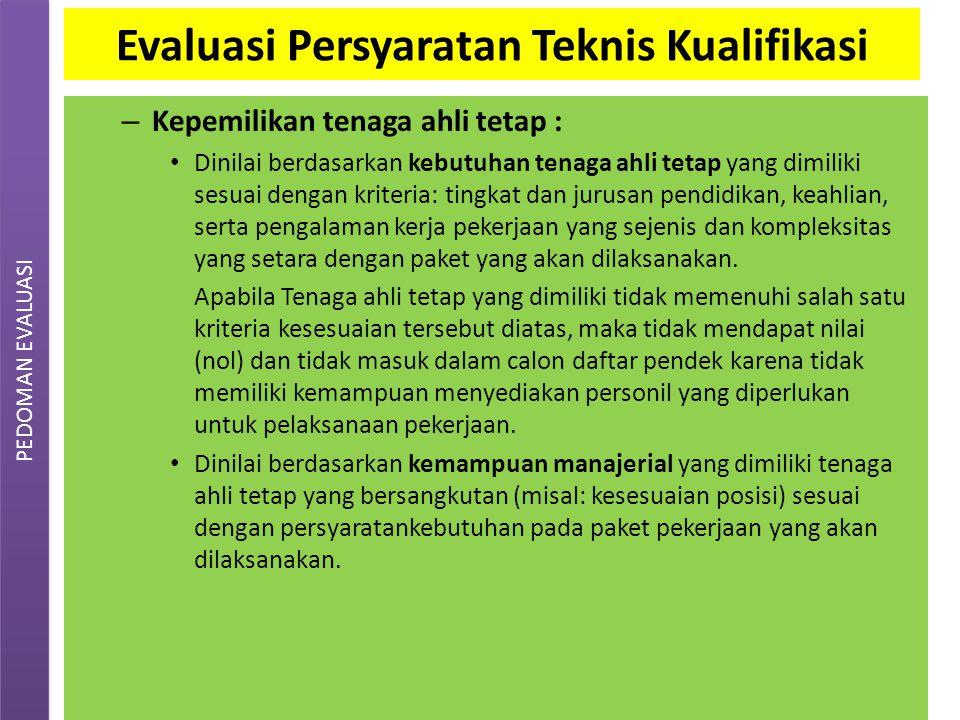 EVALUASI dokumen penawaran Evaluasi Sampul II (Penawaran biaya): – Pokja ULP tanpa dihadiri peserta, melakukan evaluasi penawaran biaya dalam jangka waktu yang ditetapkan dalam LDP.