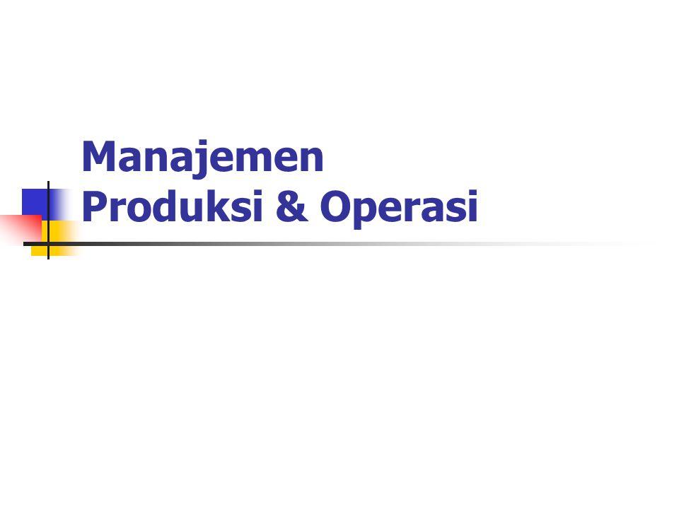 Manajemen Produksi & Operasi
