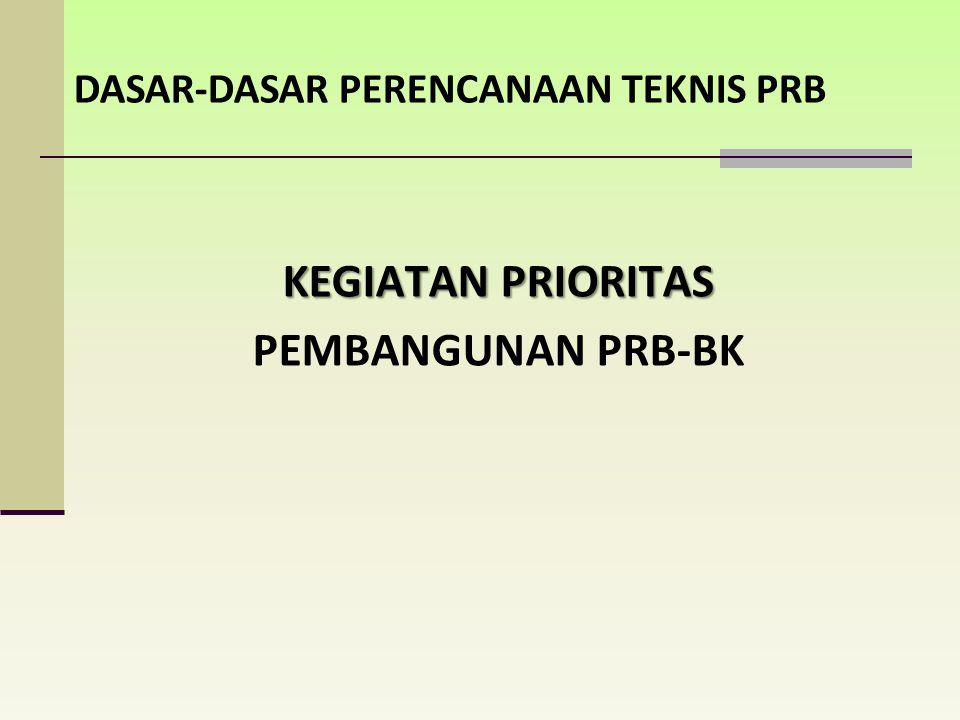 a.Prioritas untuk memenuhi kebutuhan PRB bagi masyarakat dikawasan rawan bencana; b.