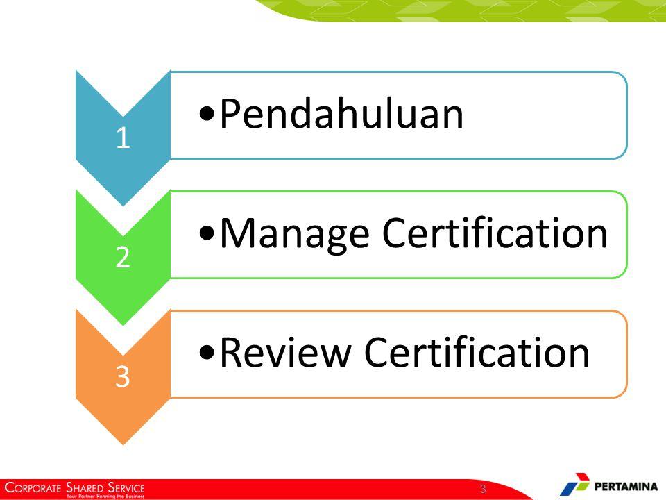 3 1 Pendahuluan 2 Manage Certification 3 Review Certification