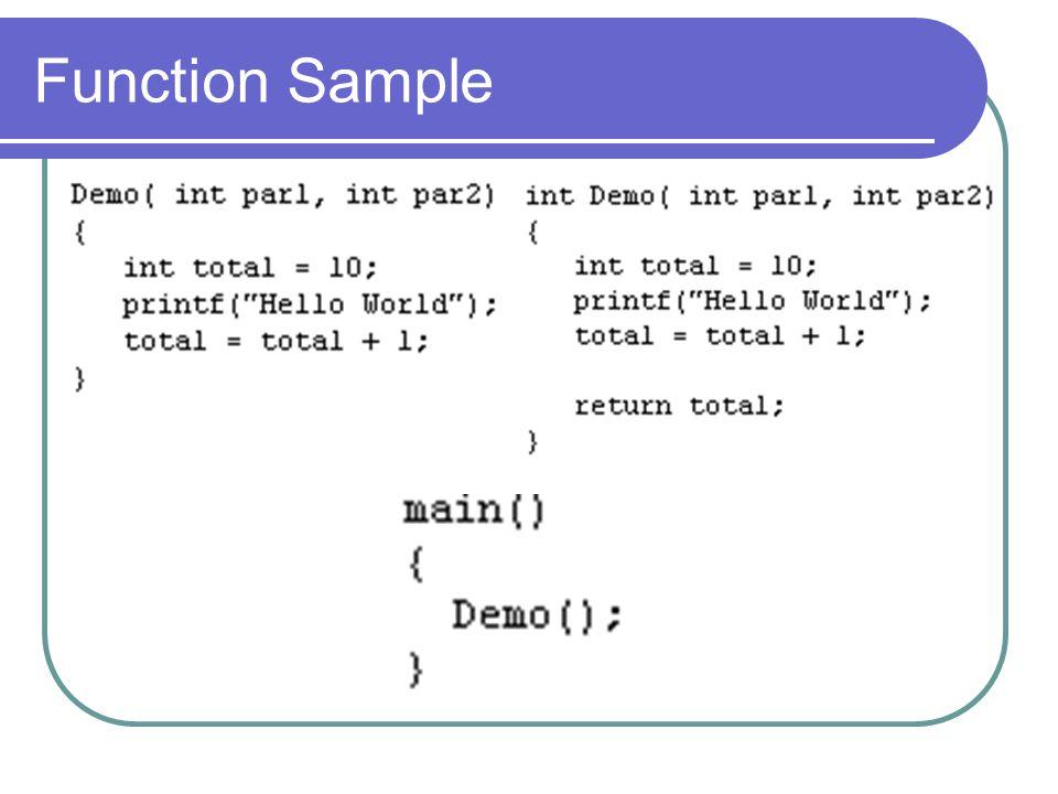Function Sample