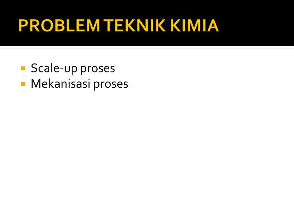  Scale-up proses  Mekanisasi proses