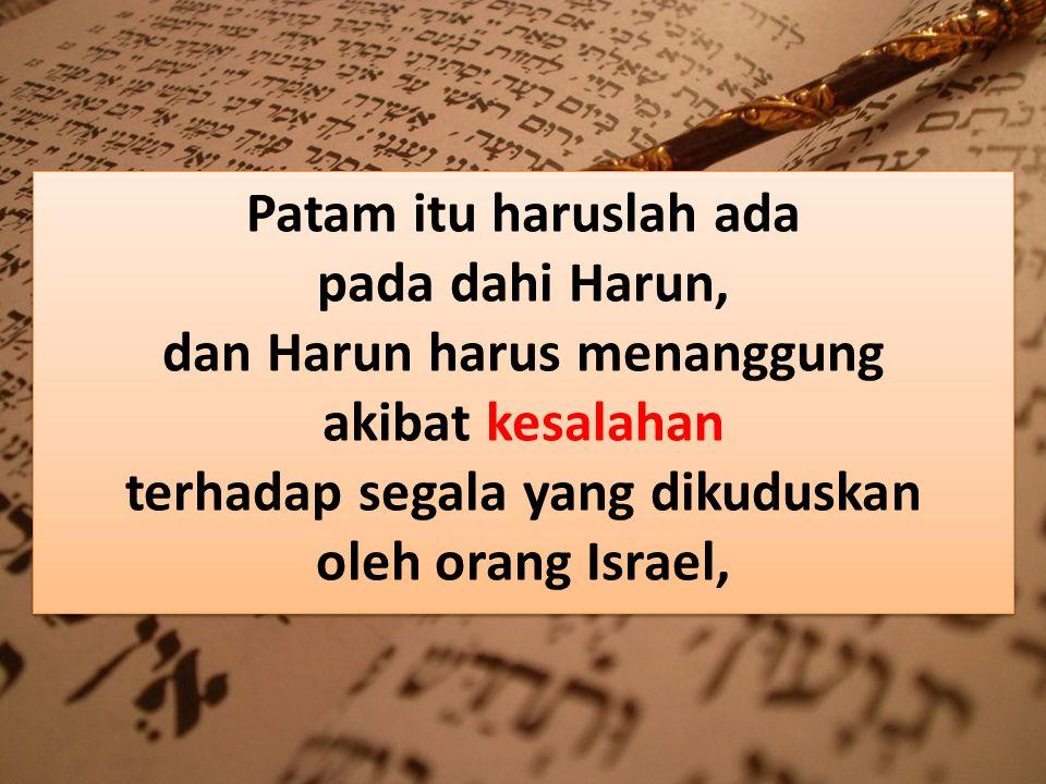  Ulangan 11:18 Ketaatan pada Firman Tuhan itu harus menjadi lambang di dahi.