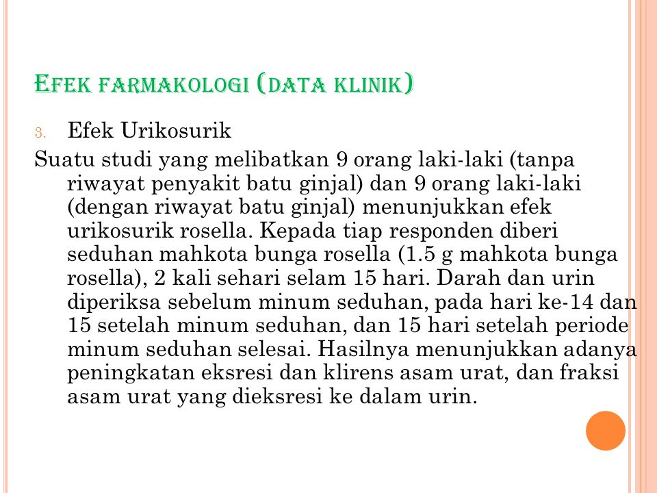 E FEK FARMAKOLOGI ( DATA KLINIK ) 3.