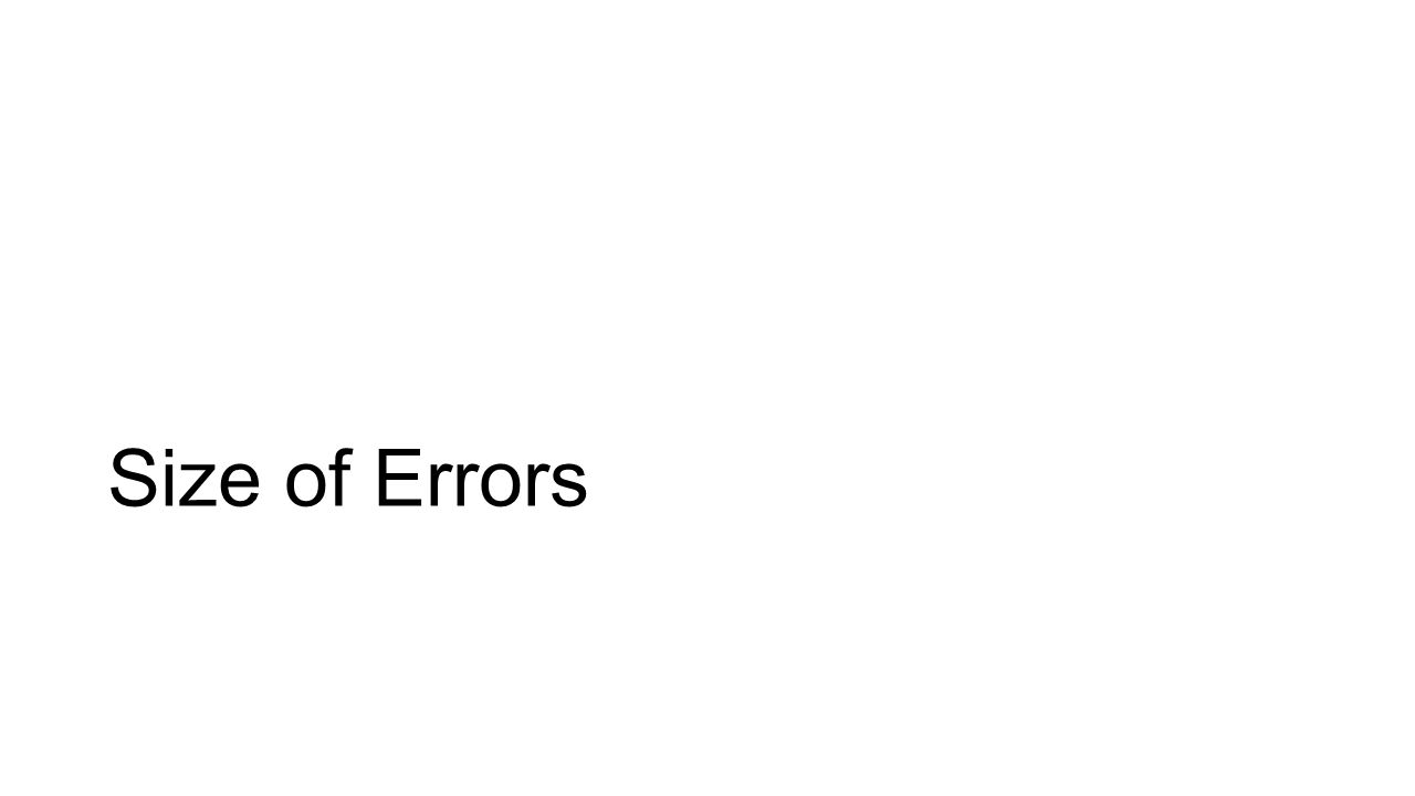 Size of Errors