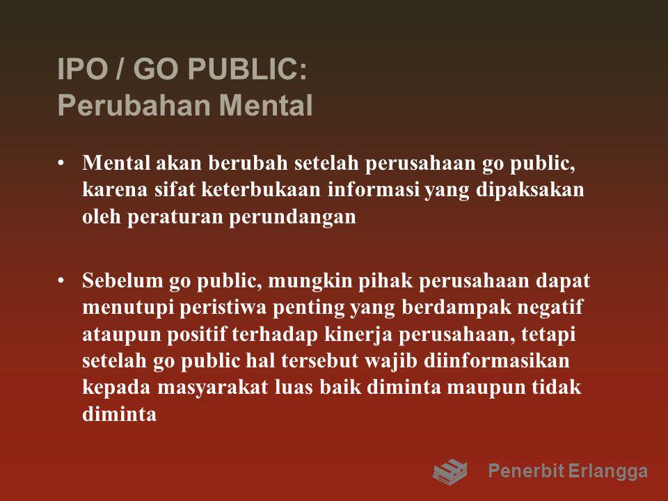 IPO / GO PUBLIC: Perubahan Mental Mental akan berubah setelah perusahaan go public, karena sifat keterbukaan informasi yang dipaksakan oleh peraturan