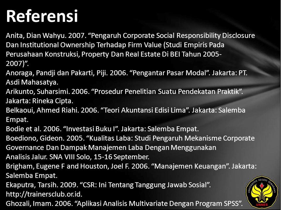 Referensi Anita, Dian Wahyu. 2007.
