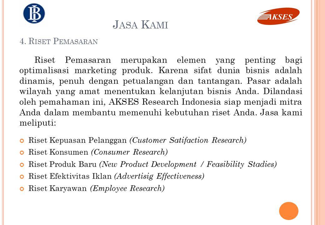 Riset Pemasaran merupakan elemen yang penting bagi optimalisasi marketing produk. Karena sifat dunia bisnis adalah dinamis, penuh dengan petualangan d