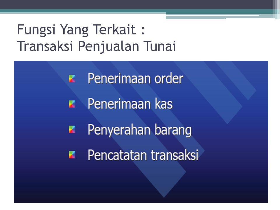 Fungsi Yang Terkait : Transaksi Penjualan Tunai