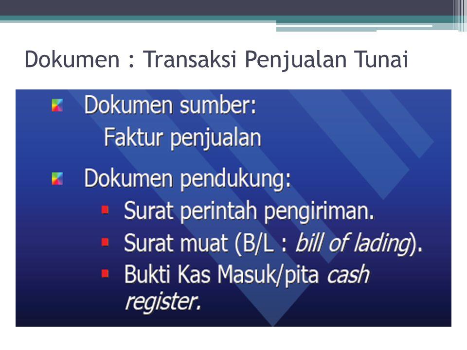 Dokumen : Transaksi Penjualan Tunai