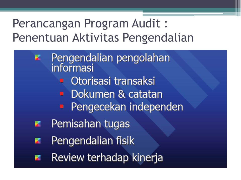 Pengujian Pengendalian : Perancangan Program Audit