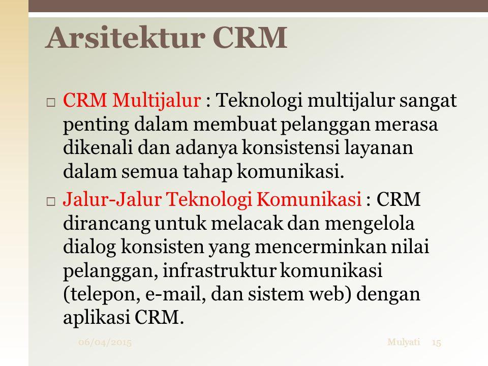  CRM Multijalur : Teknologi multijalur sangat penting dalam membuat pelanggan merasa dikenali dan adanya konsistensi layanan dalam semua tahap komuni