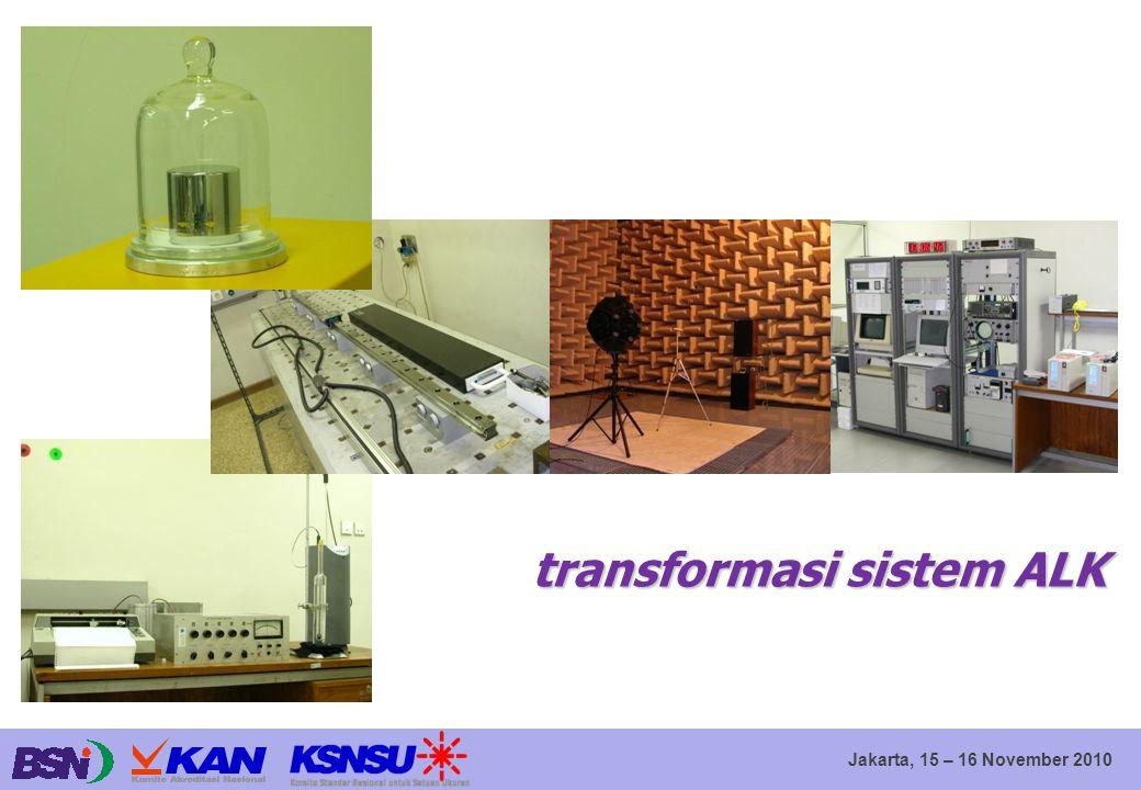 Jakarta, 15 – 16 November 2010 transformasi sistem ALK