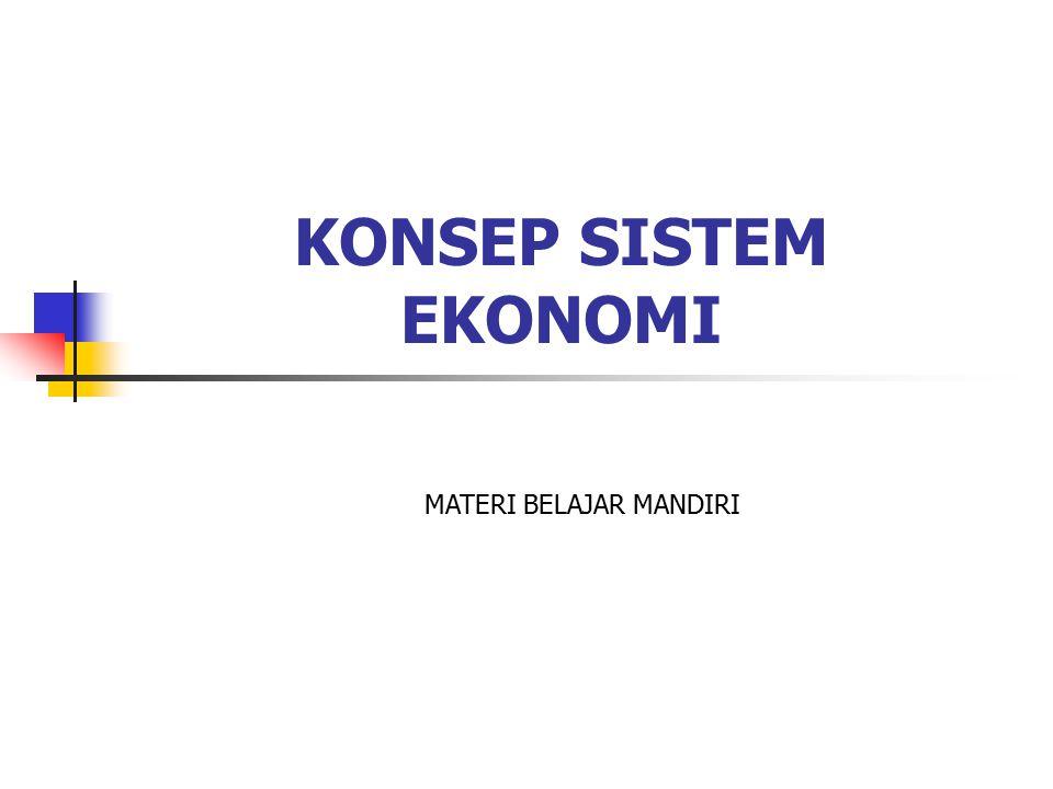 Pengertian Sistem dan Sistem Ekonomi Istilah sistem berasal dari perkataan systema (bahasa Yunani), yang dapat diartikan sebagai: keseluruhan yang terdiri dari macam- macam bagian.
