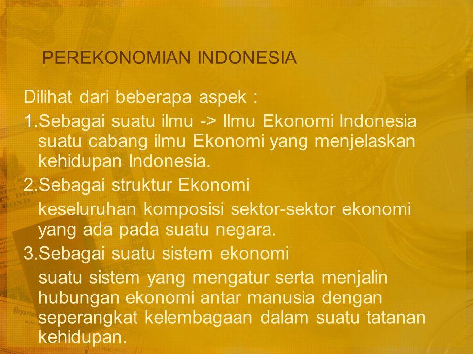 SISTEM EKONOMI INDONESIA PERTEMUAN 2