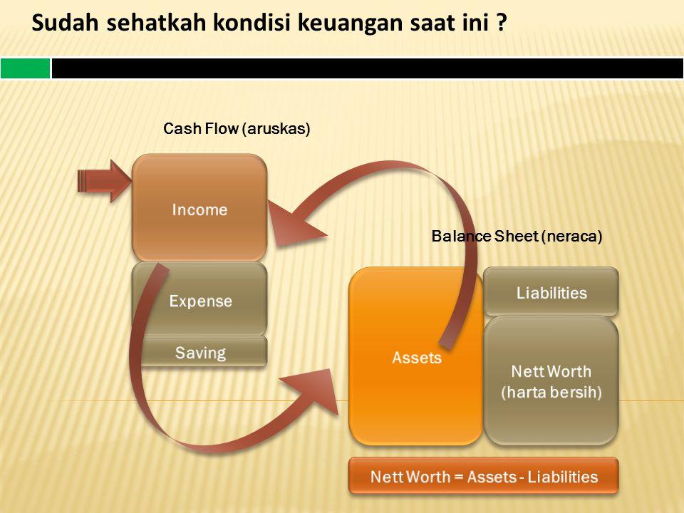 Sudah sehatkah kondisi keuangan saat ini ? Cash Flow (aruskas) Balance Sheet (neraca)
