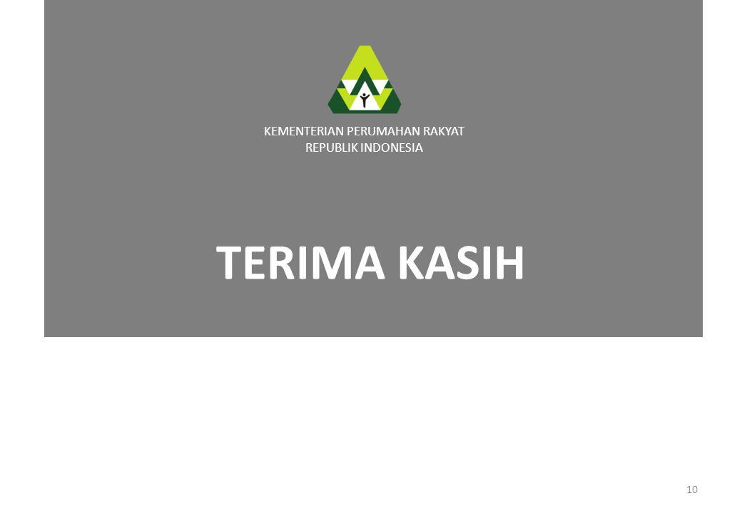 TERIMA KASIH KEMENTERIAN PERUMAHAN RAKYAT REPUBLIK INDONESIA 10