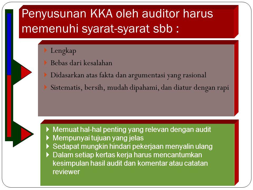  Informasi pendahuluan  Pernyataan tujuan audit  Instruksi khusus  Langkah-langkah kerja Langkah-langkah kerja memuat tentang pengarahan-pengarahan khusus pelaksanaan tugas audit sesuai dengan tahapan auditnya, yaitu :  Audit pendahuluan  Review dan pengujian pengendalian manajemen  Audit lanjutan 16