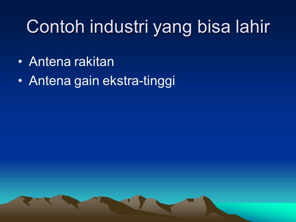 Contoh industri yang bisa lahir Antena rakitan Antena gain ekstra-tinggi