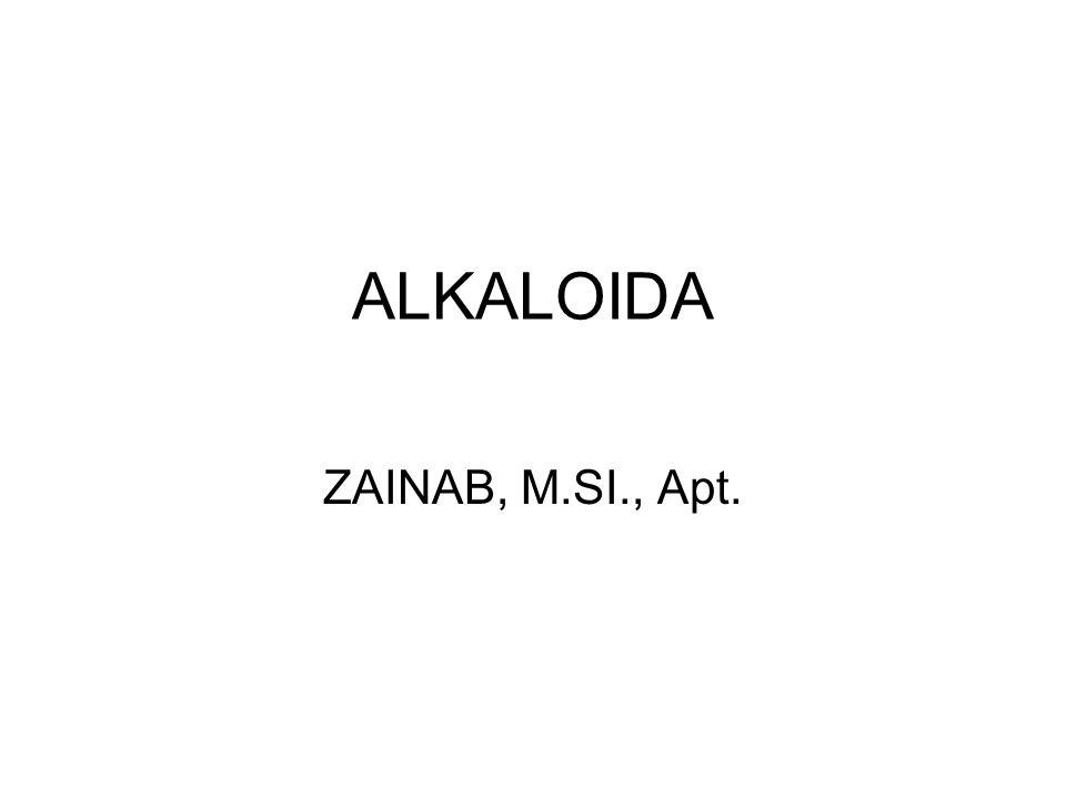 ALKALOIDA ZAINAB, M.SI., Apt.