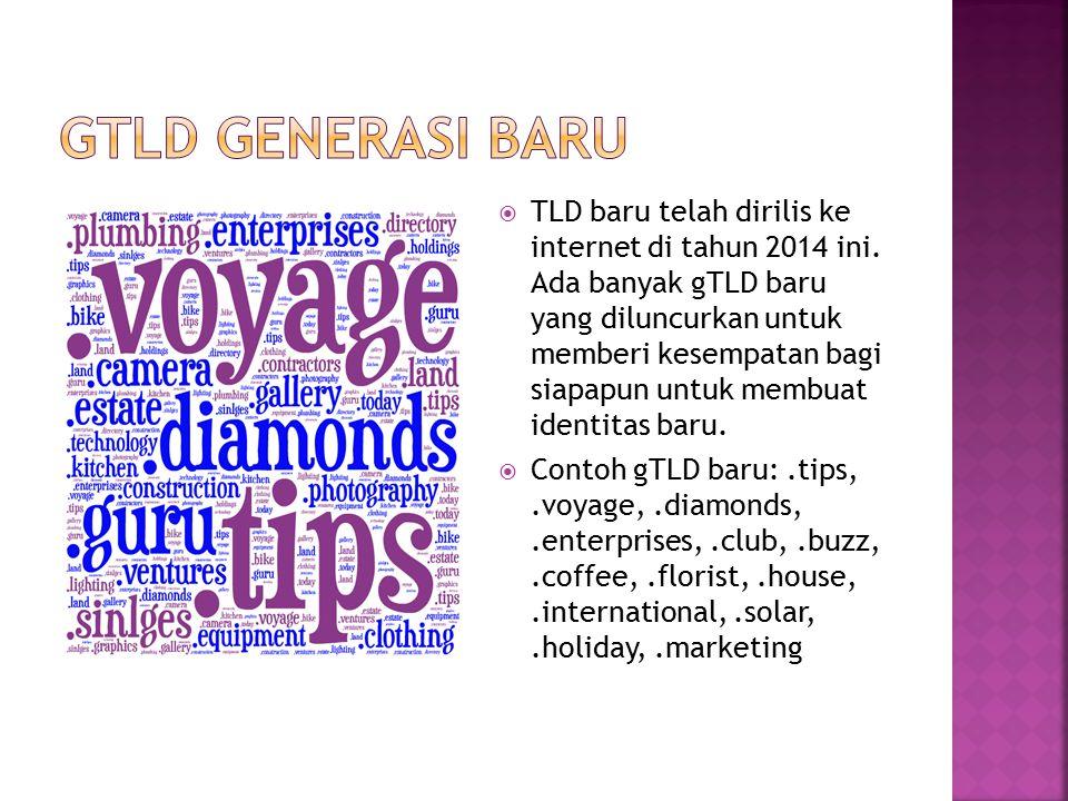  TLD baru telah dirilis ke internet di tahun 2014 ini. Ada banyak gTLD baru yang diluncurkan untuk memberi kesempatan bagi siapapun untuk membuat ide