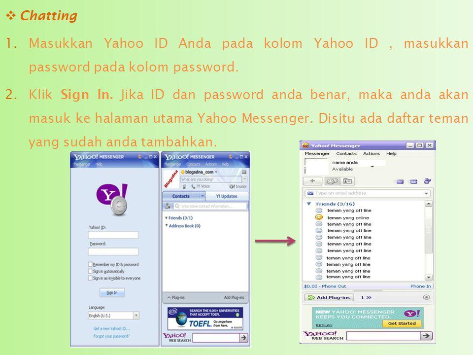  Mengganti Skin Yahoo! Messenger 1.Klik tombol lingkaran kecil (Personalize Yahoo! Messenger with different skins),di sebelah tombol minimize. Sehing