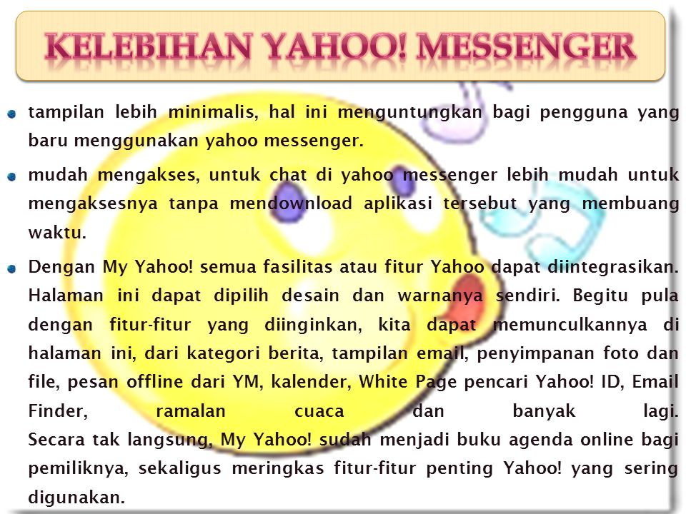 2)Install program Yahoo.